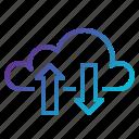 cloud, computing, data, links, tranfer