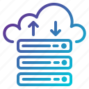 cloud, computing, server, storage icon