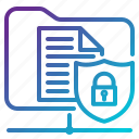 data, lock, network, protection, security icon