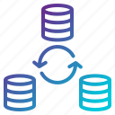 synchronization, data, file, refresh, sync icon