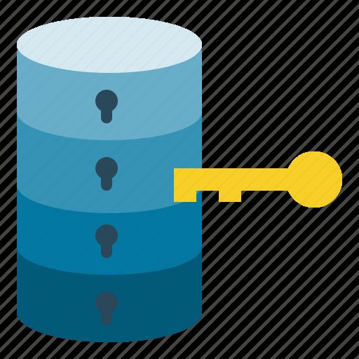 access, data, key, lock, protection icon