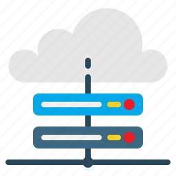 cloud, hosting, server, tech icon
