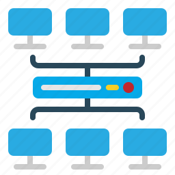 computer, device, network, sharing, technology icon