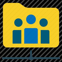 file, folder, network, shared icon