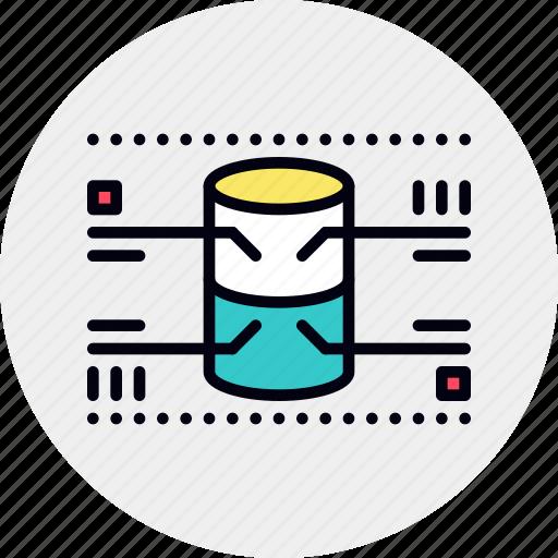 architecture, data, database, infographic, monitoring, network, server icon
