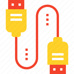 adapter, cable, connection, plug, plugin, usb, wire icon