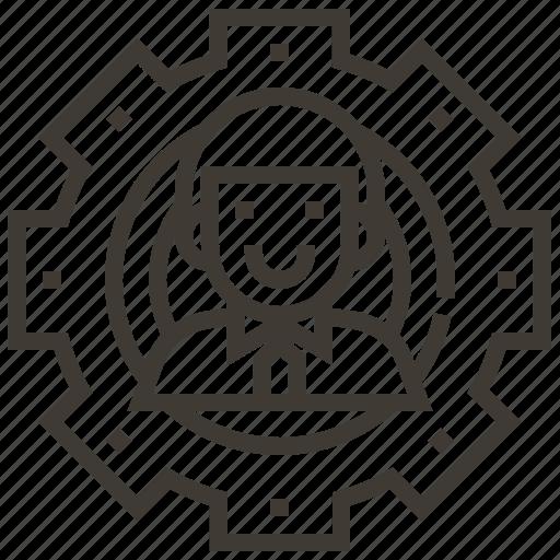 avatar, configuration, gear, options, settings icon