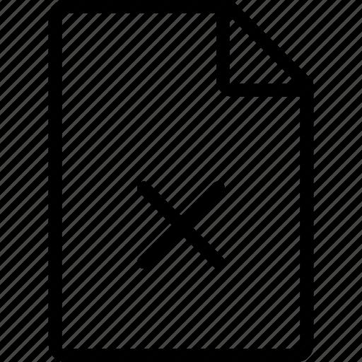 cross, data, file, files, paper icon