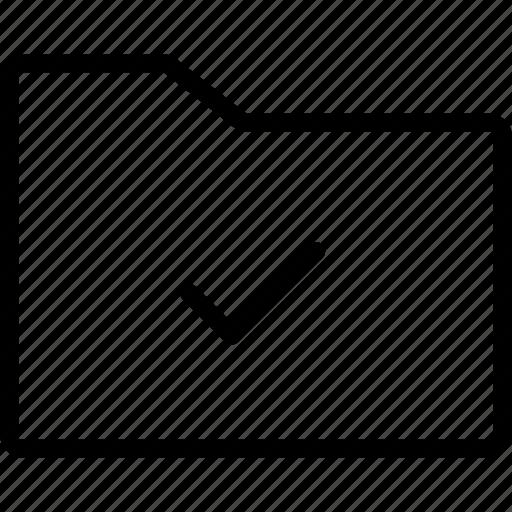 check, data, files, folder icon