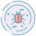 bug, cybersecurity, data, protection icon