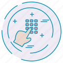 cybersecurity, data, dialpad, protection icon