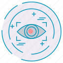 cybersecurity, data, eye, protection icon