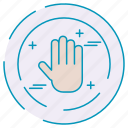 cybersecurity, data, hand, protection icon