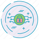 cybersecurity, data, lock, protection, share icon