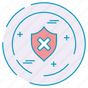 cybersecurity, data, protection, sheild icon