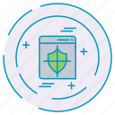 cybersecurity, data, protection, shield icon
