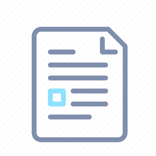 data, document, file, page, paper, text icon