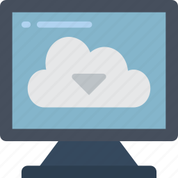 cloud, data, download, recovery icon