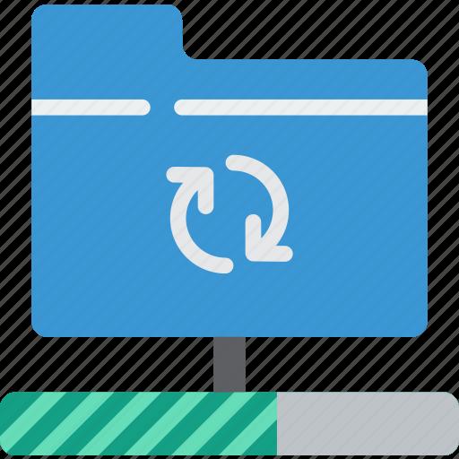 data, folder, recovery, sync icon
