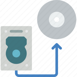 data, disk, recovery, transfer icon