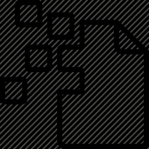 corrupt, data, file, recovery icon