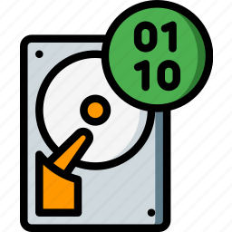binary, data, recovery icon