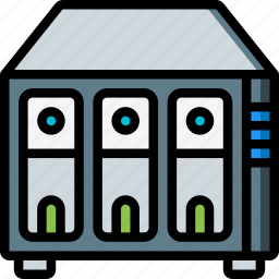 data, drive, raid, recovery icon