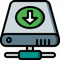 data, download, drive, hard, recovery icon