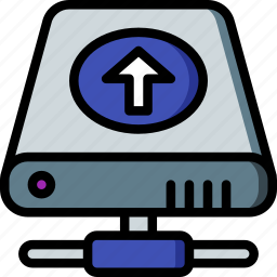 data, drive, hard, recovery, upload icon