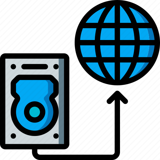 data, internet, recovery, transfer icon
