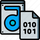binary, data, file, recovery, store icon