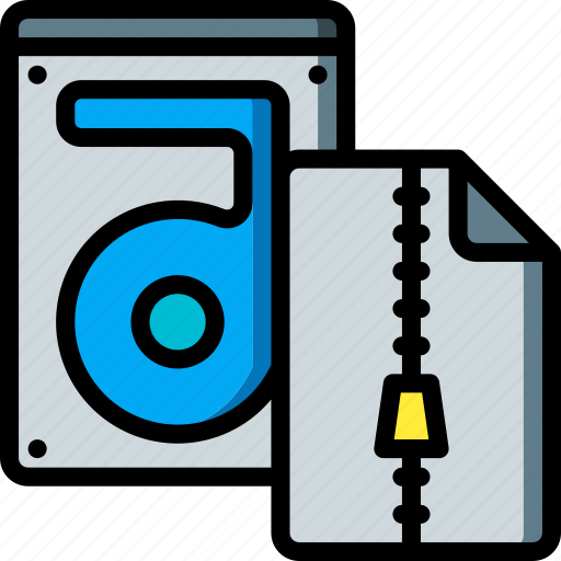 compressed, data, file, recovery, store icon