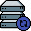 data, drive, recovery, sync icon