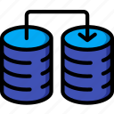 data, recovery, transfer icon