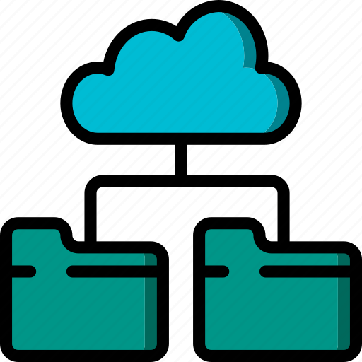 cloud, data, recovery, route icon