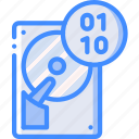 binary, data, recovery icon