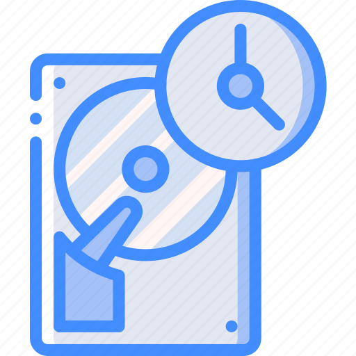 data, mahine, recovery, time icon