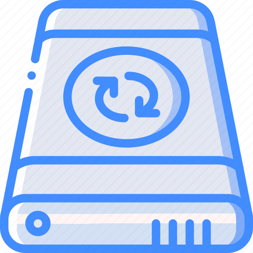 data, external, recovery, sync icon