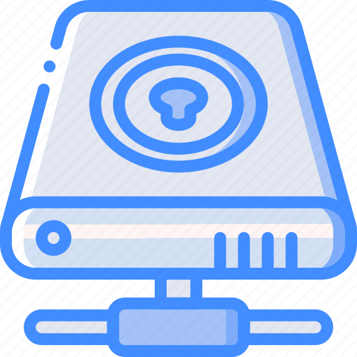 data, drive, hard, locked, recovery icon