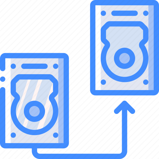 data, drive, hard, recovery, transfer icon