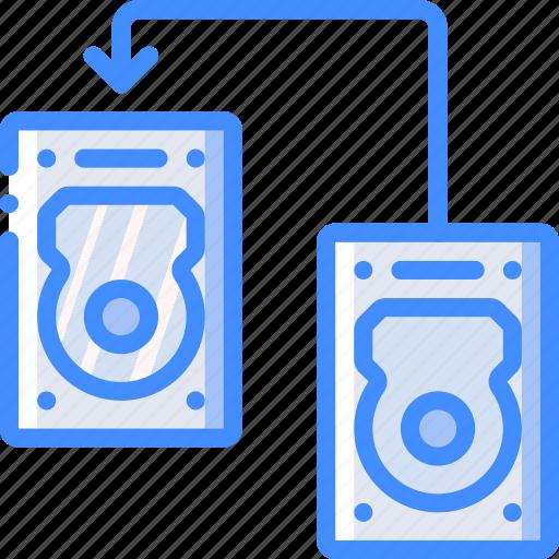 data, hard, recovery, transfer icon