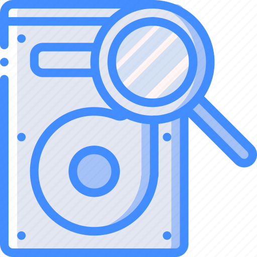 data, drive, hard, recovery, search icon