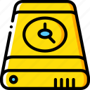 data, external, machine, recovery, time icon
