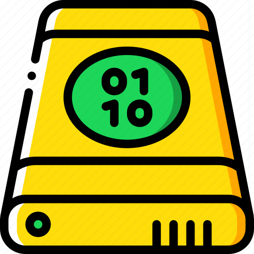binary, data, external, recovery icon