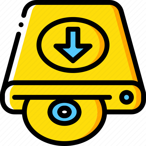 data, disk, download, recovery icon