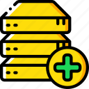 add, data, drive, recovery icon