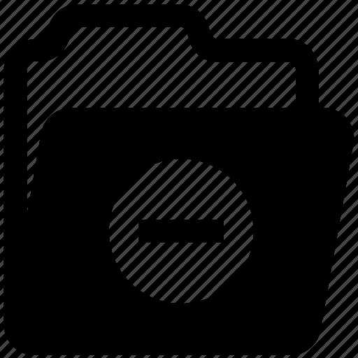 archive, data, directory, folder, minus, storage icon