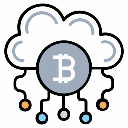 bitcoin cloud mining, bitcoin technology, cryptocurrency, digital currency, electronic money icon