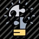 collaborative team, creative teamwork, innovative idea, problem solution, teamwork idea icon