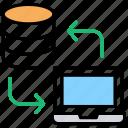 database server, datacenter, hosting center, server storage, web hosting icon